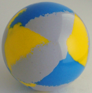 Silver-gray chrome yellow, blue Italian