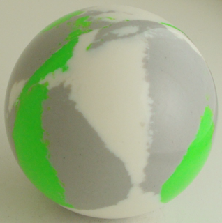 White-silver gray, green fluorescent