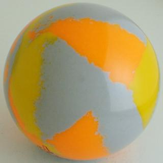 Silver gray - fluorescent orange, chrome yellow