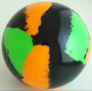 Black - fluorescent orange, fluorescent green