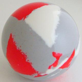 Silver gray - white, fluorescent red