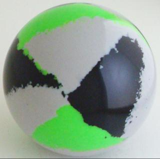 Silver gray - black, green fluorescent