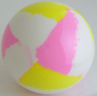 White- fluorescent yellow, fluorescent pink