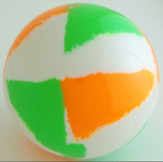 WHITE - fluorescent orange, fluorescent green