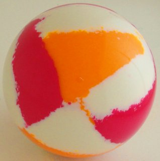WHITE - fluorescent orange , fluorescent magenta
