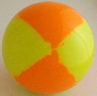 Fluo orange, fluorescent yellow