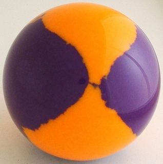 Fluorescent orange, purple