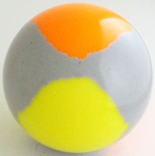 Silver gray - fluorescent yellow, fluorescent orange