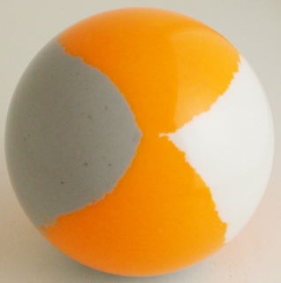 Fluorescent orange - silver gray, white