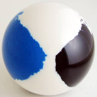 White - ocean blue, black