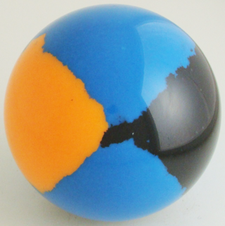 Italian light blue, fluorescent orange, black