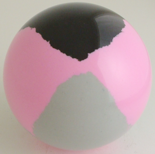 Fluorescent pink - silver gray, black