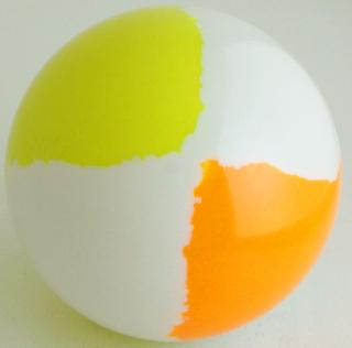 White - fluorescent orange, fluorescent yellow