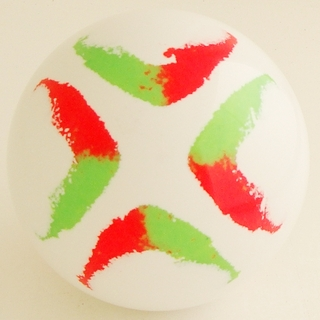 WHITE-fluorescent green, fluorescent red
