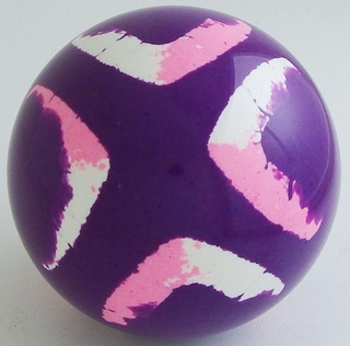 PURPLE-mix white, fluorescent pink
