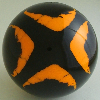 BLACK-fluorescent orange