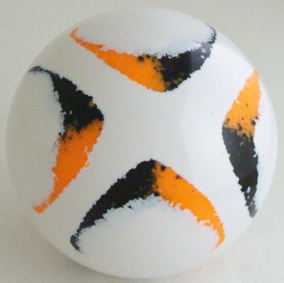 White - fluorescent orange, black