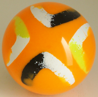 Fluorescent orange-white, black, yellow