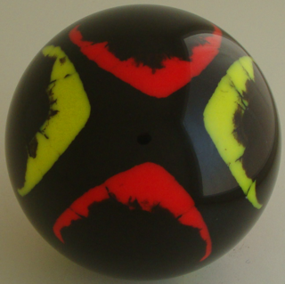 Black - fluorescent yellow, fluorescent red