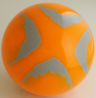 Fluorescent orange - silver gray