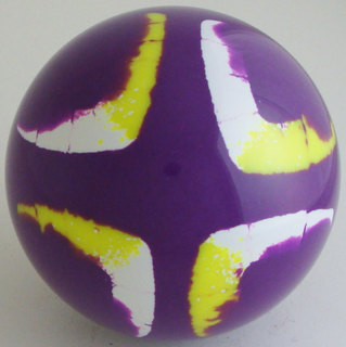 Neon Purple - white, fluorescent yellow