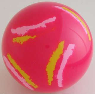 MAGENTA FLUO - fluorescent pink, yellow chrome