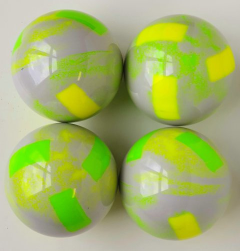 Gradient silver gray / Fluo Green - Fluo yellow